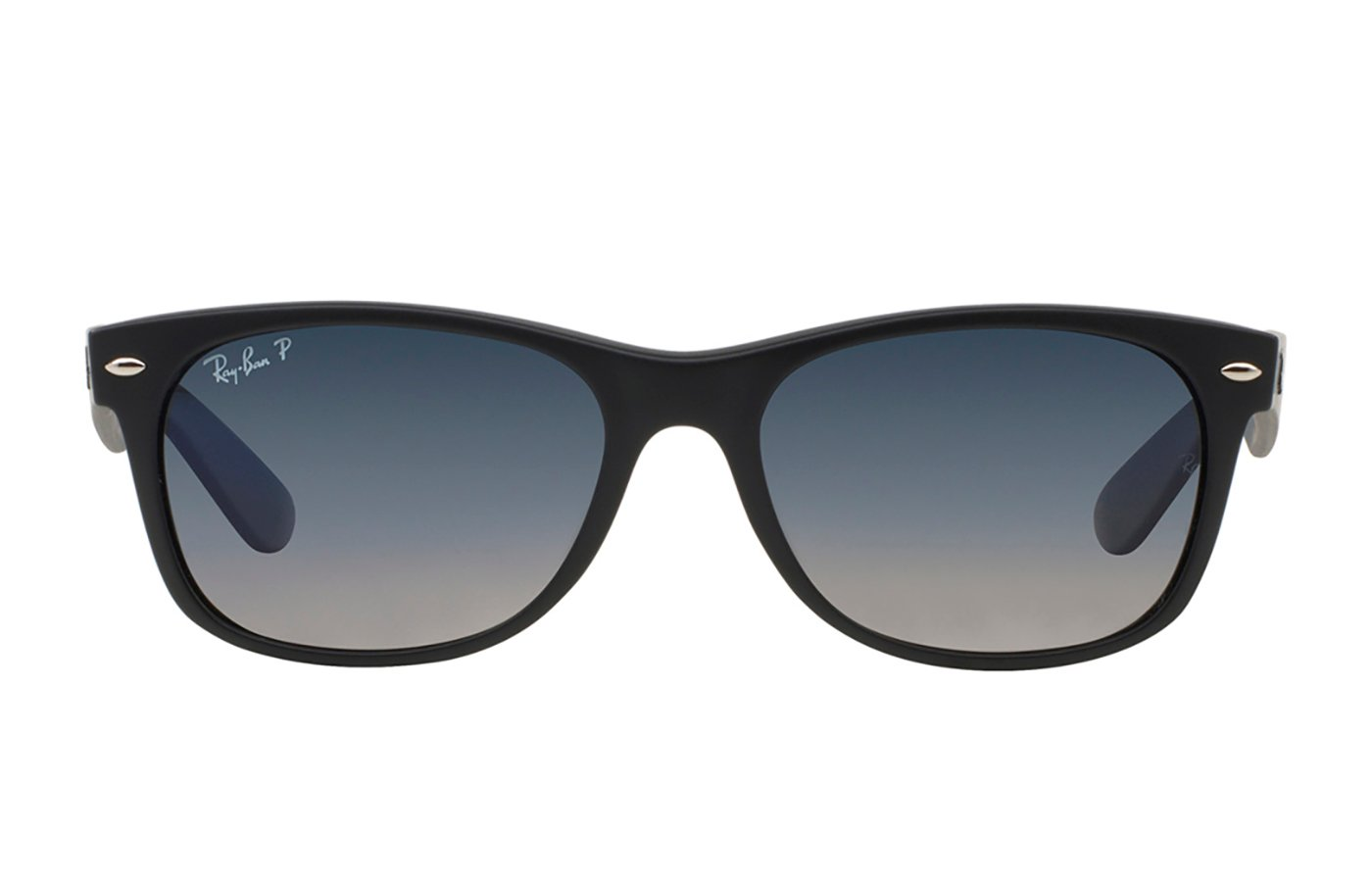 RAY-BAN NEW WAYFARER MATTE BLACK 0RB2132 52 601S78 POLARIZADA